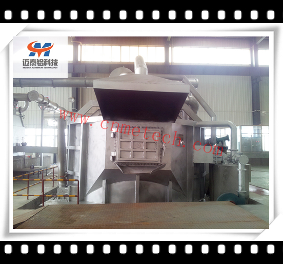 stationary aluminum melting holding furnace