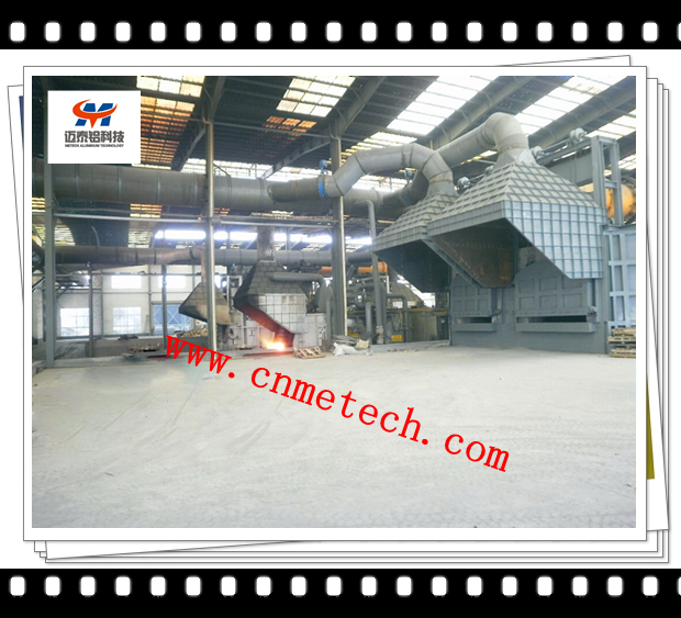 Twin-chamber aluminum scraps melting furnaces