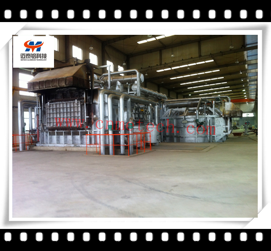 Regenerative aluminum melting furnace