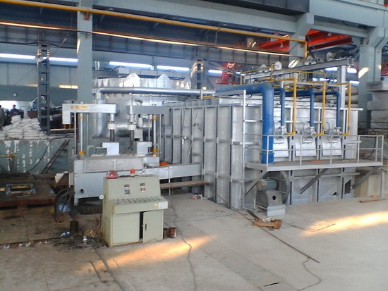 On-line Degassing and de-slagging system