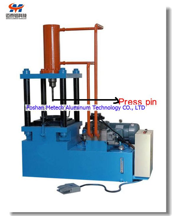 Aluminum extrusion die remains pressing machine