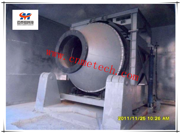 Rotary tilting furnace