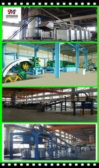 Aluminum alloy rod continuous casitng and rolling line